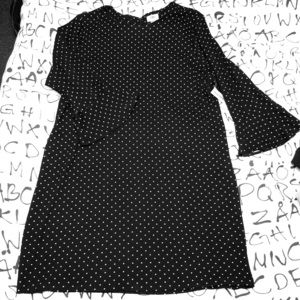 Adorable polka dotted dress!
